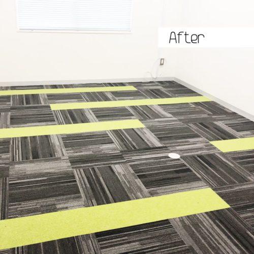 大阪市内のオフィスビルのリフォーム タイルカーペット施工