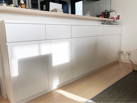 キッチンカウンターオーダーメイド家具